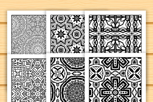 Print on Demand: 30 Abstract Pattern Coloring Set Graphic Coloring Pages & Books Adults By JM_Graphics - Image 5