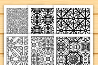 Print on Demand: 30 Abstract Pattern Coloring Set Graphic Coloring Pages & Books Adults By JM_Graphics 6