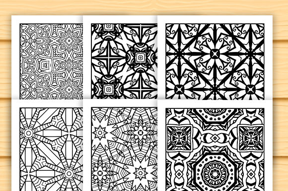 Print on Demand: 30 Abstract Pattern Coloring Set Graphic Coloring Pages & Books Adults By JM_Graphics - Image 6