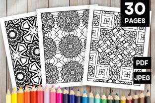 Print on Demand: 30 Cool Abstract Art Coloring Pages Graphic Coloring Pages & Books Adults By JM_Graphics 1