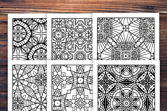 30 Fun Adult Pattern Coloring Set Graphic Preview