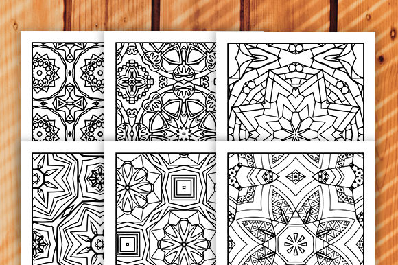 Print on Demand: 30 Geometric Adult Coloring Set Graphic Coloring Pages & Books Adults By JM_Graphics - Image 2