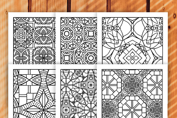 Print on Demand: 30 Geometric Adult Coloring Set Graphic Coloring Pages & Books Adults By JM_Graphics - Image 3