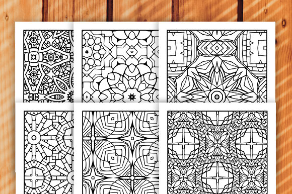 Print on Demand: 30 Geometric Adult Coloring Set Graphic Coloring Pages & Books Adults By JM_Graphics - Image 4