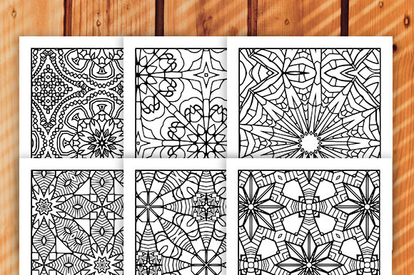Print on Demand: 30 Geometric Adult Coloring Set Graphic Coloring Pages & Books Adults By JM_Graphics - Image 5