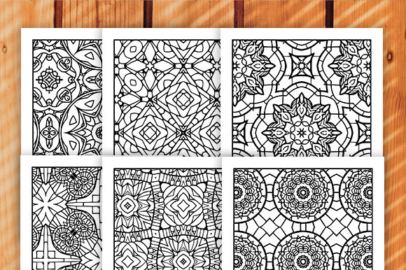 Print on Demand: 30 Geometric Adult Coloring Set Graphic Coloring Pages & Books Adults By JM_Graphics - Image 6