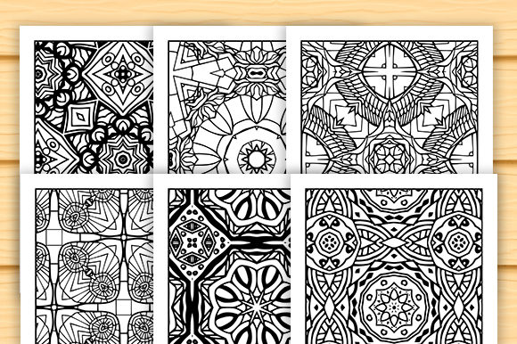 Print on Demand: 30 Lovely Geometric Coloring Set Graphic Coloring Pages & Books Adults By JM_Graphics - Image 2