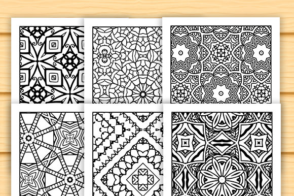 Print on Demand: 30 Lovely Geometric Coloring Set Graphic Coloring Pages & Books Adults By JM_Graphics - Image 3