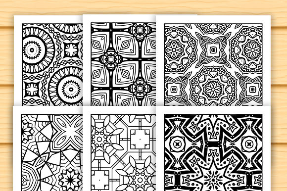 Print on Demand: 30 Lovely Geometric Coloring Set Graphic Coloring Pages & Books Adults By JM_Graphics - Image 4