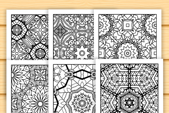 Print on Demand: 30 Lovely Geometric Coloring Set Graphic Coloring Pages & Books Adults By JM_Graphics - Image 5