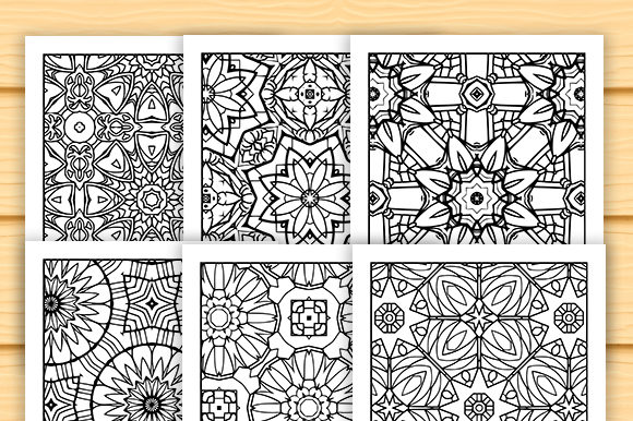 Print on Demand: 30 Lovely Geometric Coloring Set Graphic Coloring Pages & Books Adults By JM_Graphics - Image 6