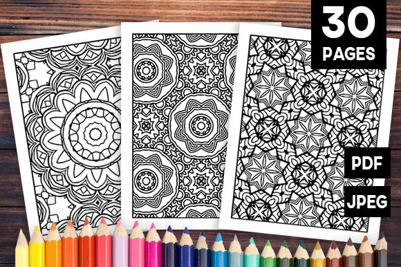 Print on Demand: 30 Wonderful Geometric Coloring Set Graphic Coloring Pages & Books Adults By JM_Graphics