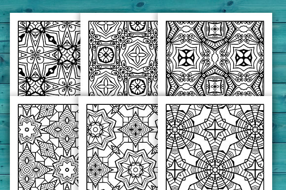 Print on Demand: Abstract Adult Coloring Pages Set Graphic Coloring Pages & Books Adults By JM_Graphics - Image 2
