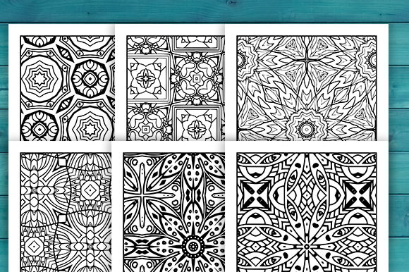 Print on Demand: Abstract Adult Coloring Pages Set Graphic Coloring Pages & Books Adults By JM_Graphics - Image 3