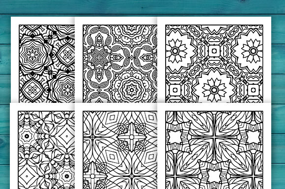 Print on Demand: Abstract Adult Coloring Pages Set Graphic Coloring Pages & Books Adults By JM_Graphics - Image 4