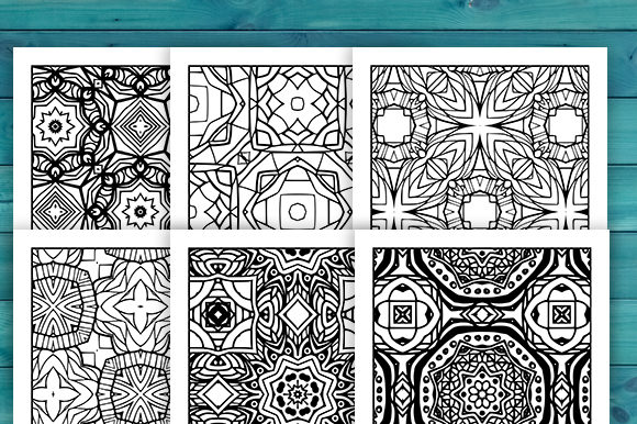 Print on Demand: Abstract Adult Coloring Pages Set Graphic Coloring Pages & Books Adults By JM_Graphics - Image 5
