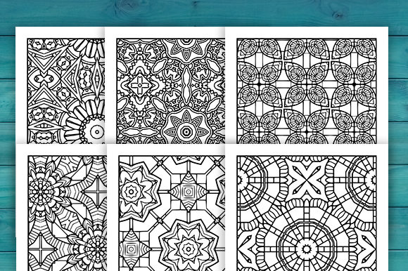 Print on Demand: Abstract Adult Coloring Pages Set Graphic Coloring Pages & Books Adults By JM_Graphics - Image 6