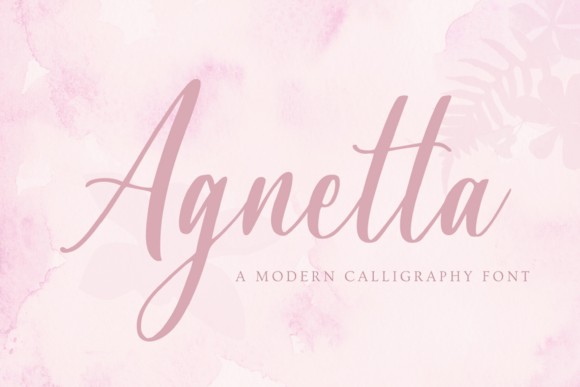 Print on Demand: Agnetta Script & Handwritten Font By Graphue
