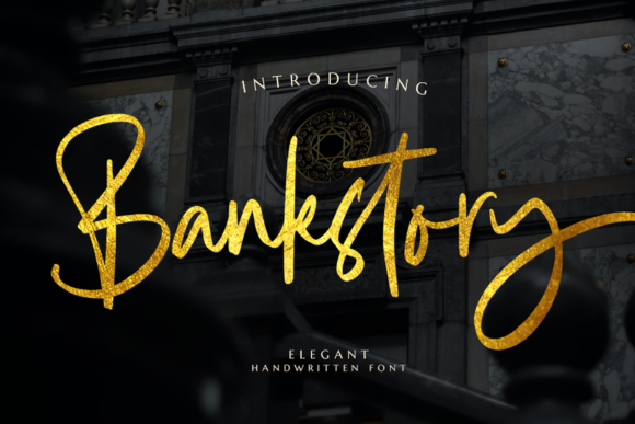 Print on Demand: Bankstory Script & Handwritten Font By Graphue