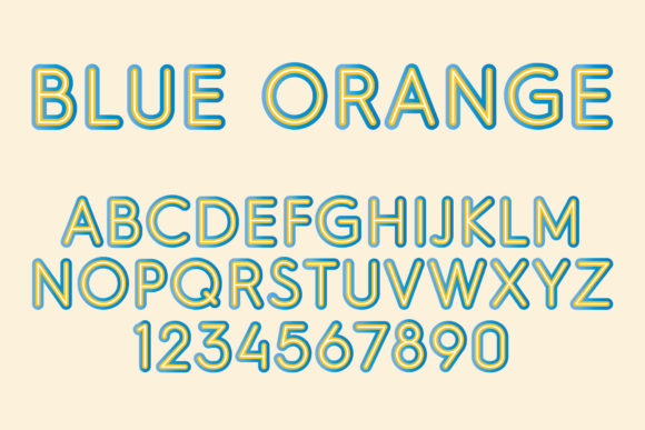 Print on Demand: Blue Orange Color Fonts Font By Vladimir Carrer - Image 1