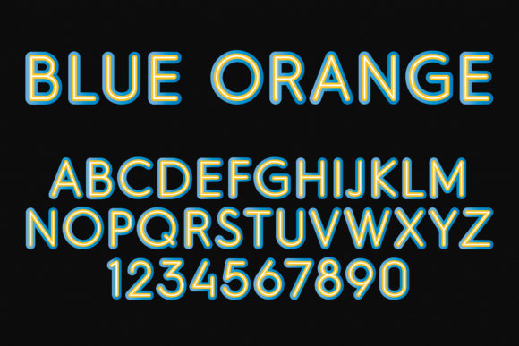 Print on Demand: Blue Orange Color Fonts Font By Vladimir Carrer - Image 2