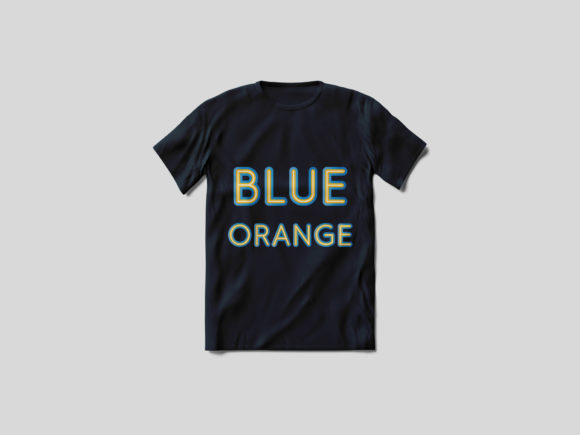 Print on Demand: Blue Orange Color Fonts Font By Vladimir Carrer - Image 3