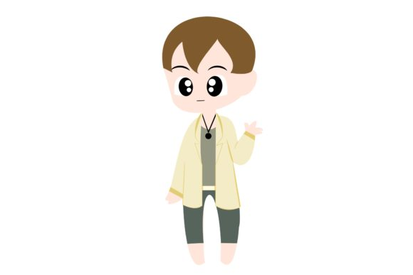 Boy Chibi Character Vector 46 Graphic Illustrations By harunikaart