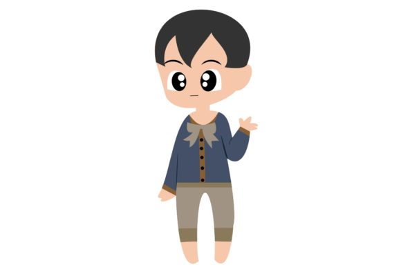 Boy Chibi Character Vector 47 Graphic Illustrations By harunikaart