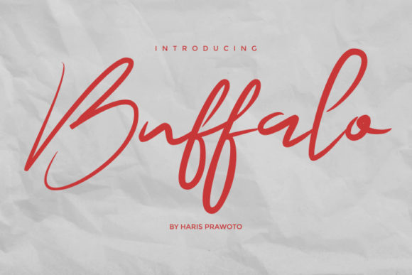 Print on Demand: Buffalo Script & Handwritten Font By harisprawoto