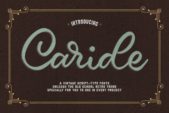 Print on Demand: Caride Script & Handwritten Font By Graphue