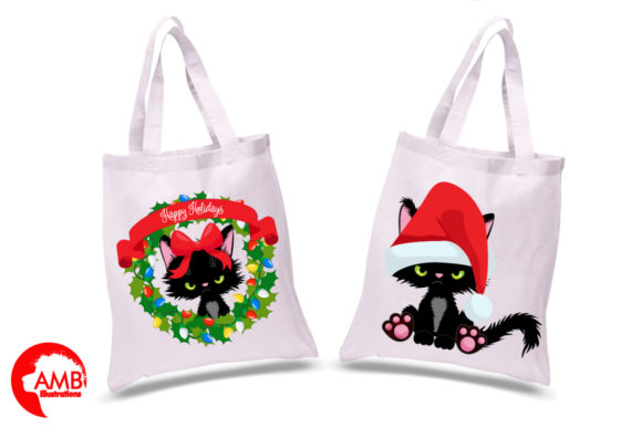 Christmas Kittens Clipart 2660 Graphic Illustrations By AMBillustrations - Image 2