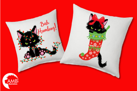 Christmas Kittens Clipart 2660 Graphic Illustrations By AMBillustrations - Image 3