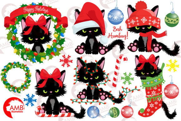 Christmas Kittens Clipart 2660 Graphic Illustrations By AMBillustrations - Image 4