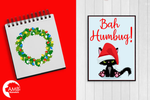 Christmas Kittens Clipart 2660 Graphic Illustrations By AMBillustrations - Image 5