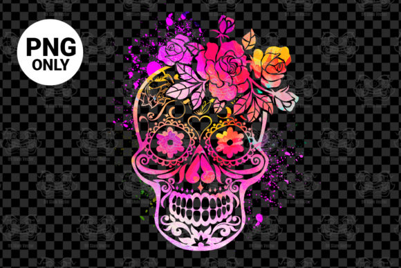 Print on Demand: Colorful Sugar Skull Graphic Print Templates By 99 Siam Vector
