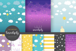 Digital Paper Serendipity Graphic Patterns By Sweet Shop Design