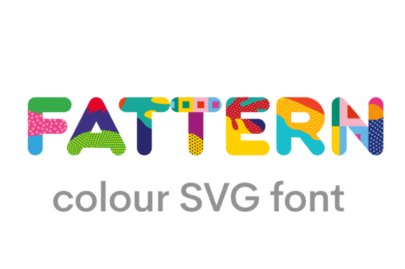 Print on Demand: Fattern Color Fonts Font By neogrey