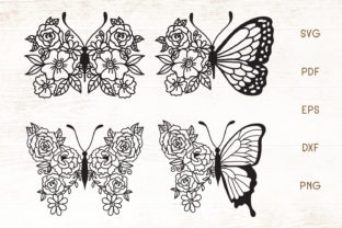 Print on Demand: Flower Butterfly - Vector Graphic Crafts By Dasagani