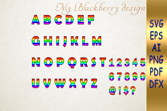 Print on Demand: Gay Pride LGBT Font   Graphic Crafts By talanpluss