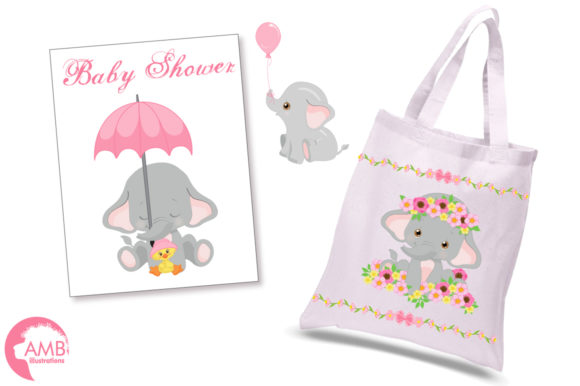 Gray Elephants Clipart 2676 Graphic Illustrations By AMBillustrations - Image 2