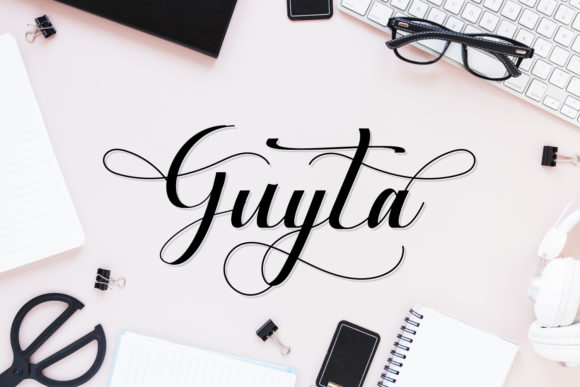 Print on Demand: Guyta Script & Handwritten Font By fiqiart09
