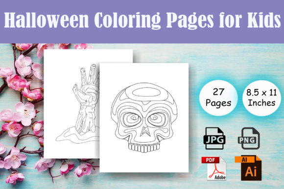 Halloween Coloring Pages for Kids - KDP Graphic Coloring Pages & Books By Sei Ripan