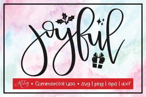 Print on Demand: Joyful | Christmas Graphic Crafts By Ality