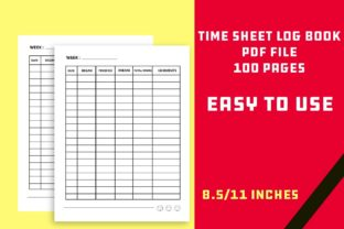 Print on Demand: KDP Log Book TimeSheet - Work Hours Graphic KDP Interiors By Mah Moud