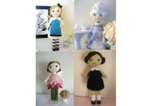Knit Doll Pattern Collection Graphic Knitting Patterns By Amy Gaines Amigurumi Patterns