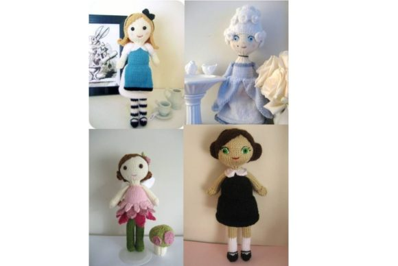 Knit Doll Pattern Collection Grafik Knitting Patterns von Amy Gaines Amigurumi Patterns