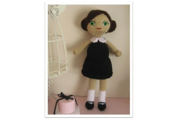 Knit Doll Pattern Collection Graphic Knitting Patterns By Amy Gaines Amigurumi Patterns - Image 3