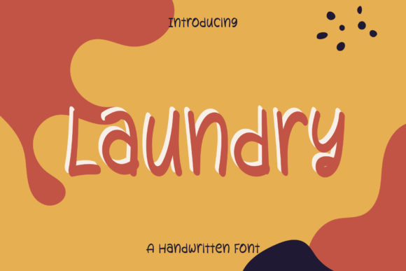 Print on Demand: Laundry Script & Handwritten Font By Wanida Toffy