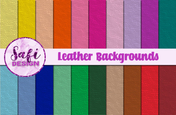 Print on Demand: Leather Texture Backgrounds Graphic Backgrounds By Safi Designs