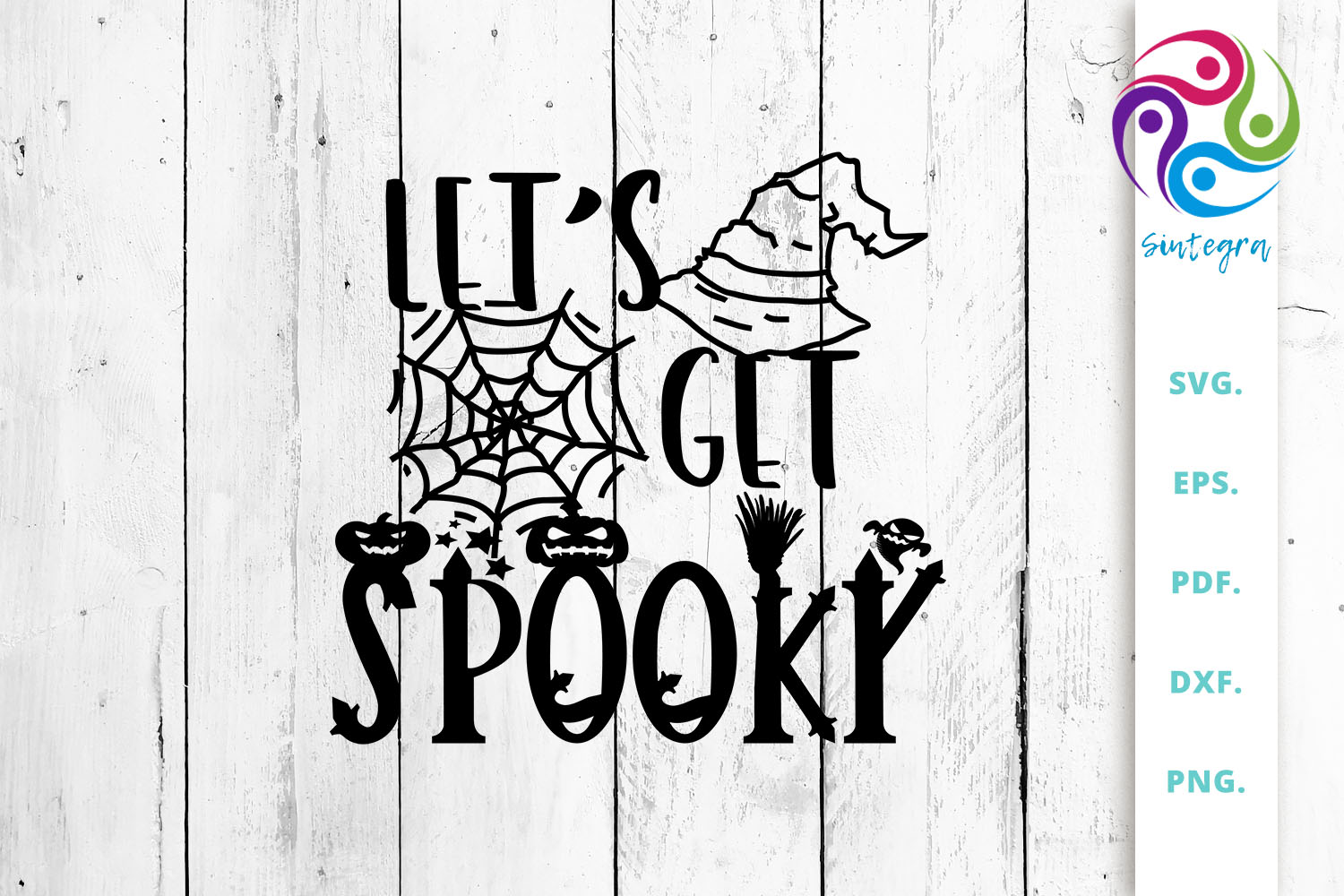Let S Get Spooky Halloween Quote Graphic By Sintegra Creative Fabrica